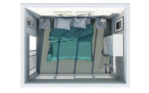 Insulated Cube-Hotel (3 m x 4 m)