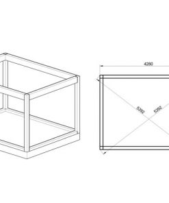 Insulated Cube - Garden Office 3 x 4 m -FOUNDATION.