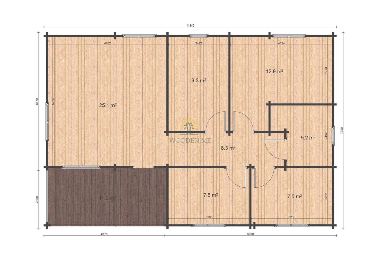 Iberica T3 7.92x11.84 floor plan