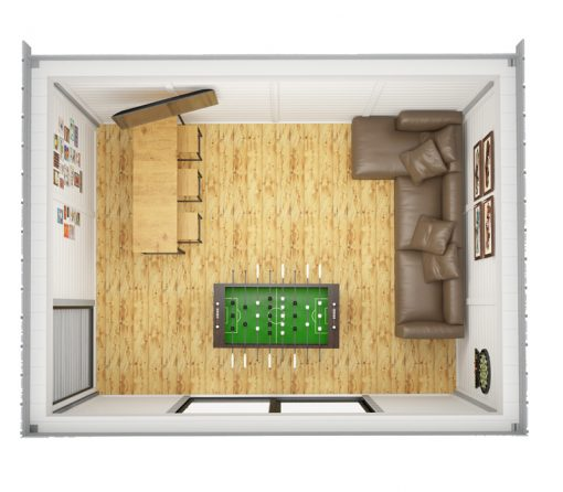 Insulated Cube - MANS CAVE 3 x 4 m