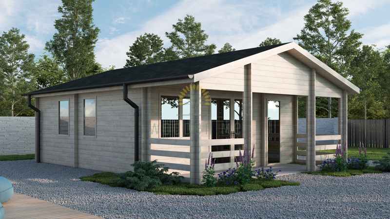 Wooden house Oscar (8,87 m x 10,04 m) 68 mm