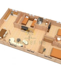 Wooden house Sevilla 7,8 x 13,74 68 mm