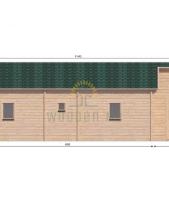Wooden house Vienna 8,3 x 11 68 mm_back