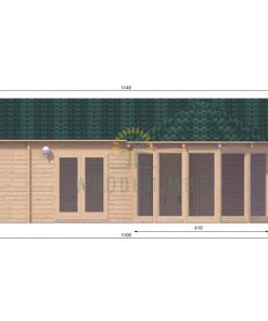 Wooden house Vienna 8,3 x 11 68 mm_front