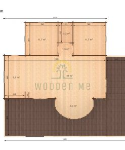 Wooden house Vienna 8,3 x 11 68 mm__top