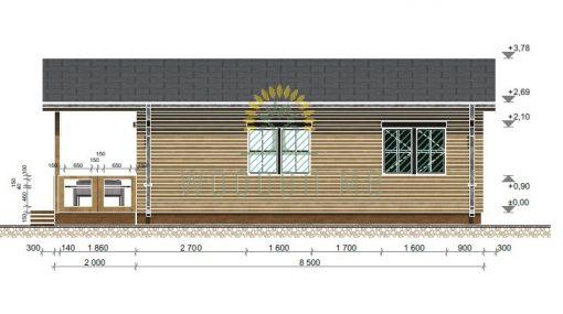 Wooden cabinPetunia 690 cm x790 cm(54.5 m2)