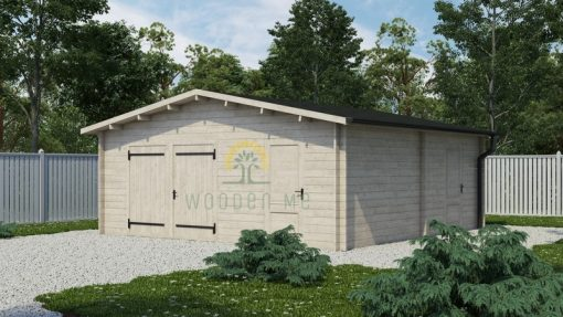 Wooden garage 5.7mx5.7m 68 mm, (32.5 m2)