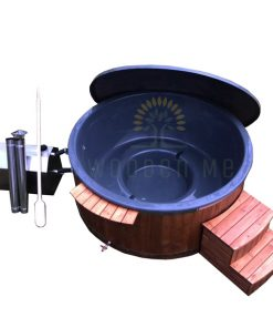 Big hot tub 2 m / Ø 2.2 m with outside heater
