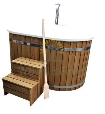 Ofuro fiberglass hot tub with Outside heater