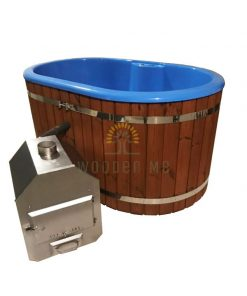 Ofuro fiberglass hot tub with Outside heater