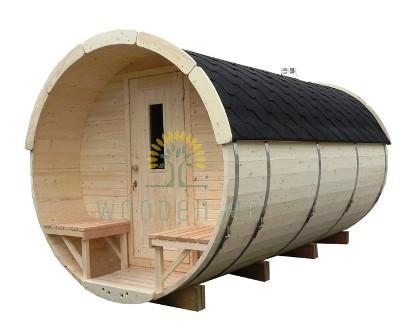 Sauna barrel 3.5 m Length without background