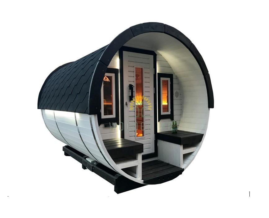 Sauna barrel 3 m Ø 1.9 m
