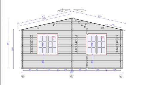 Tivoli – Double carport with shed (5.95 m x 7.5m), 44mm