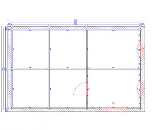Tivoli – Double carport with shed (5.95 m x 7.5m), 44mm - Plan