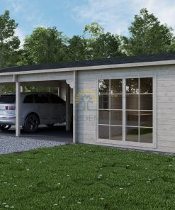 Tivoli – Double carport with shed (5.95 m x 7.5m), 44mm