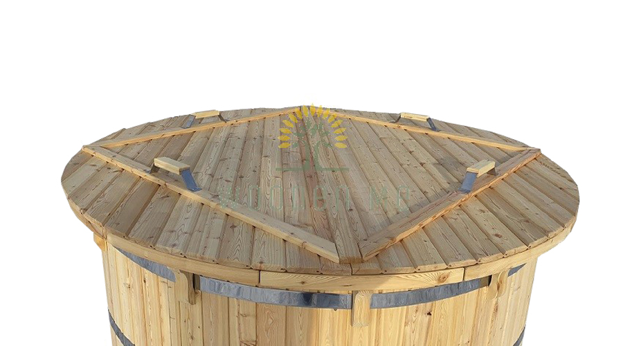 Larch wood hot tub - cover
