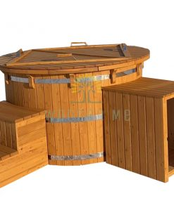 Larch wood hot tub with sand filter