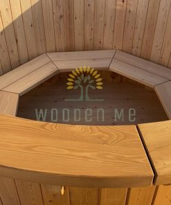 Larch wood hot tub - inside