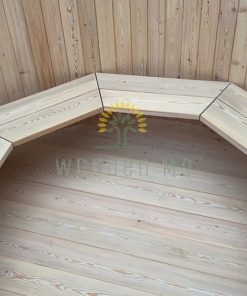 Larch wood hot tub - inside natural