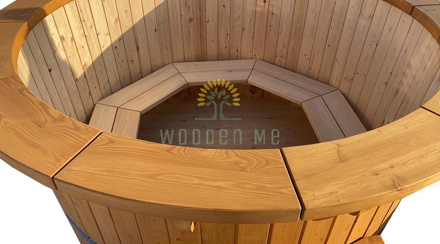 Larch wood hot tub - inside
