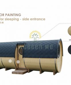 Sleeping barrel 2.2 x 5.4 m (with side entrance and furniture) Painting