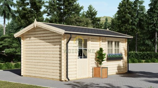 Wooden garage (3,20 x 5,20), 44mm