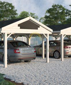 Wooden Carport Singuli 18 m²