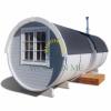 Sauna barrel with side entrance